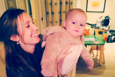 Anna and Alfie (in a bear suit)