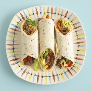 Cajun-Beef-and- Onion-Wraps