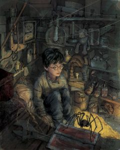 Harry-Potter-in-cupboard-Jim-Kay-RGB-636x800