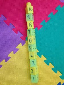 Block number line