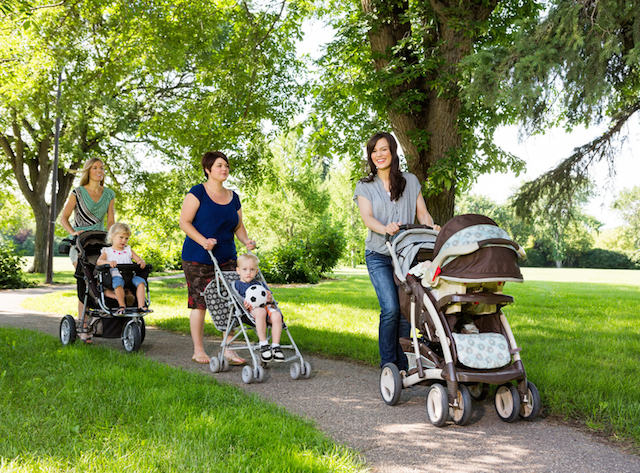 Walking best for new mums and windy babies