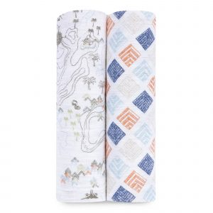 aden and anais organic swaddle 2 packs