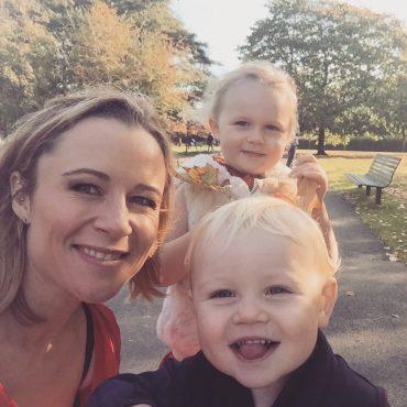 Rebecca Newman and her children