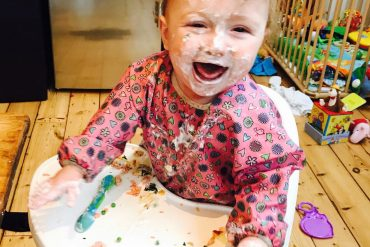 Baby-led weaning is messy but it is the most natural way
