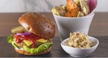 Vegan burger at Wulf & Lamb