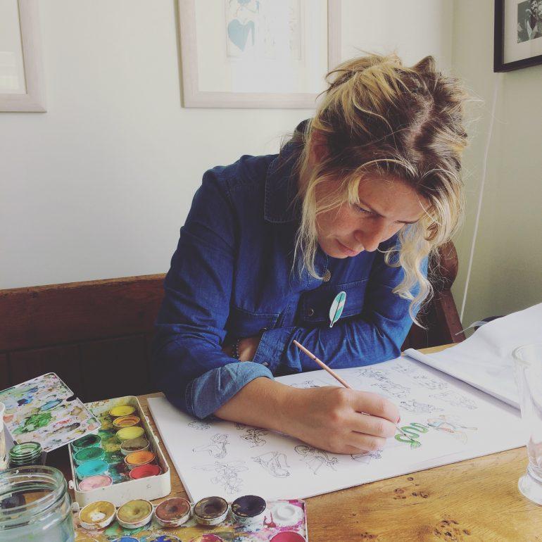 Catriona Tyrwhitt is a full time mother and illustrator